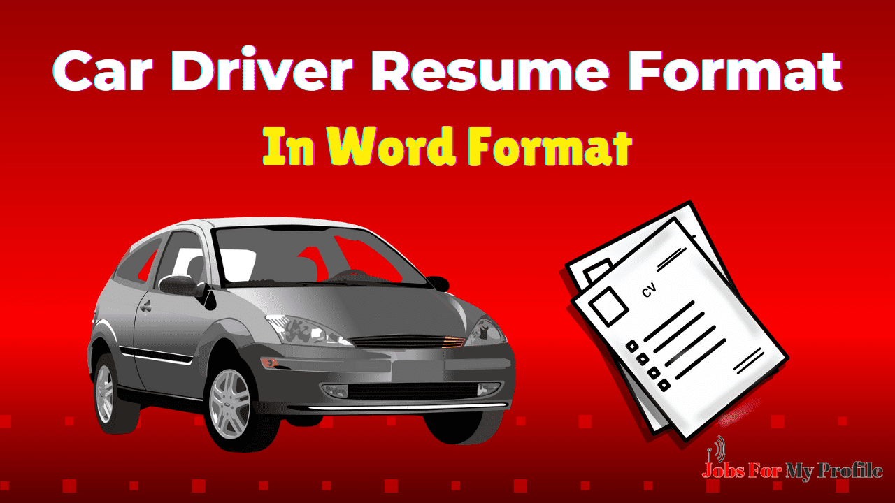 Best Free Car Driver Resume Format In Word Download