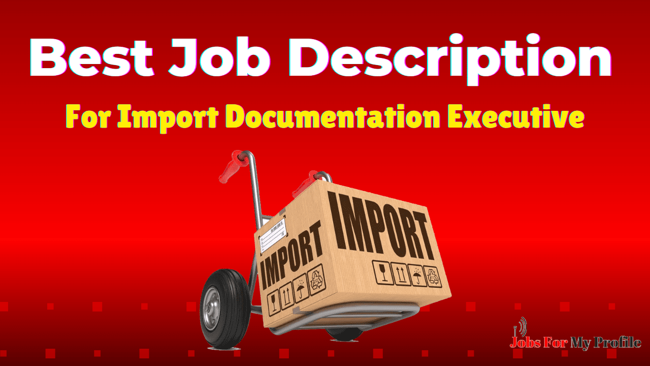 Import Documentation Executive Job Description (1)